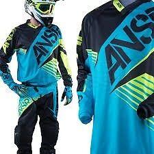 2016 Answer A16 Syncron Aqua Yellow Blk ATV MX Motocross Offroad Pant 40 459376