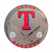 Texas Rangers Round Metal MLB Logo Magnet