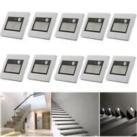LED Treppenleuchte mit Bewegungsmelder Wandeinbauleuchte, Treppenlicht 230V 0,6W