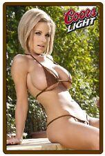 Coors Light Beer Girl In Brown Bikini Refrigerator / Tool Box Magnet
