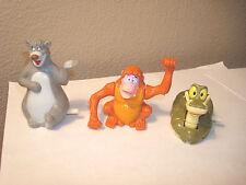 Jungle Book Wind-up 3 Pc.lot: Kaa,King Louie,Baloo McDonalds Happy Meal Toys1989