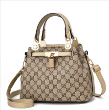 New Ladies Womens Faux Leather Designer Inspired Checked Shoulder Bag Handbag A