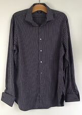 Jaeger Cotton Striped Double Cuff Formal Shirts for Men