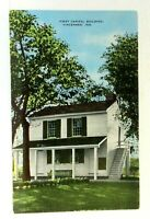 Vincennes IN First Capital Building Indiana Territory Postcard