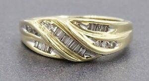Womens 9ct Gold & Diamond Ring Engagement Wedding Dress Fine Jewellery