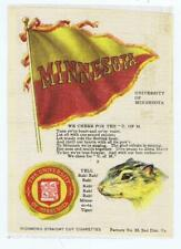 Minnesota College Flag Seal Song Yell S23 cigarette silk gopher 234