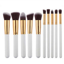 10×Pennelli Trucco Make up Brush PENNELLO Strumento Blush Eyeliner Ombretto Set
