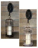 Hanging Candle Lantern Black Rustic White Candle Lantern Holder Stand Display