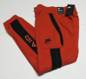 Nike Air Boys' Fleece Sweatpants Size LARGE Red/Black DA0710 Nwts $65