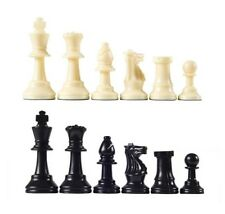 "Analysis Chess Pieces – 32 Black & Natural Pieces w/ Felt Bottoms - 2 1/2"" King"