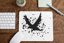 Inkblot Crow Non Slip Mouse Mat / Mouse Pad