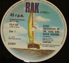 """Cameron Incontri ravvicinati del tipo 3rd UK 1978 RAK PROMO SOLO 12"""" pslp 255"""