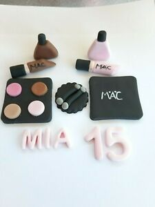 Handmade Make Up 7pcs Set Personalised Edible Cake Toppers