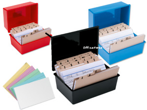 Record Card Boxes~White~Coloured Cards~A-Z Index for the Office~Small-Large Size