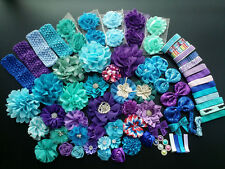 Deluxe DIY kits,Baby Shower Station,Headband,shabby flowers Party Supply,Xms J