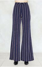 c3cc7511c74c Nast Gal Collection Womens Size 8 Striped Dress Pants High Waisted