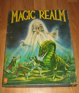 """VINTAGE 1978 """" MAGIC REALM"""" BOARD GAME - UNPANCHED"""