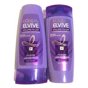 LOREAL Paris Elvive Volume Filler Thickening Shampoo & Conditioner 12.6 FL OZ