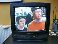 "VINTAGE PANASONIC TX13S3T 14"" PORTABLE TV VHS VCR VIDEO COMBI  GAMING 24HR P&P"