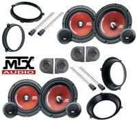 Mtx Tr 65S Set 8 Lautsprecher 165mm für Fiat Panda 03 > 12 mit Adat & Sup