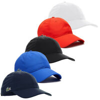 Lacoste Mens 2020 Sports Weave Taffeta Solid Diamond Baseball Cap