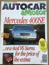 Autocar Magazine - 11 December 1991 - Merc 400SE, Mitsubishi Space Runner