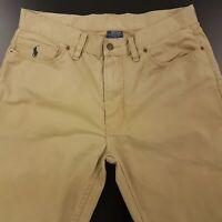 Polo Ralph Lauren Mens Vintage Summer Trousers Pants Jeans W34 L30 Beige Regular
