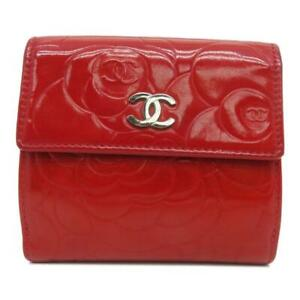Chanel CC Wallet Patent Leather Red 3263