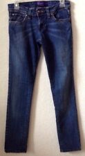 "Juniors Sz 9 Medium Blue Jeans MILEY CYRUS 32"" In Cotton/Span Straight Pre-Owned"