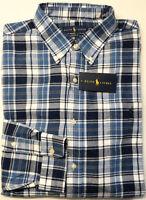 NEW $125 Polo Ralph Lauren Long Sleeve Performance Flannel Shirt Mens Blue Plaid
