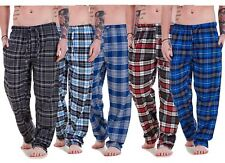 Mens Flannel Pyjama Bottoms Brushed Cotton Check Lounge Pants Nightwear M-5XL
