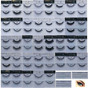 The CREME Shop 100% Human Hair False Eyelashes Handmade 40 Styles, 6 or 12 Pairs