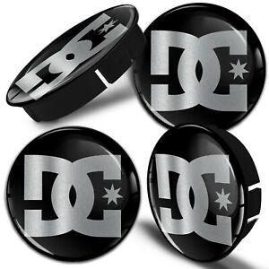 4 x 60mm / 55mm Universal Wheel Hub Cover Center Rim Caps Car DC Silver Black