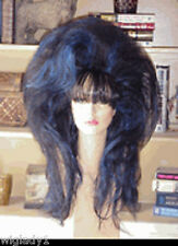 SIN CITY WIGS LONG BLACK SEXY HAIR STRAIGHT TEASED THICK VOLUME BANGS HOT LOOK