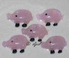 Disconintued * rare Pig piggies Glass Shapes gems Cute mosaic Tile Tiles