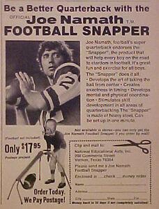 1971 Joe Namath New York Jets AFL/NFL Football Snapper Oddball Sports Photo AD