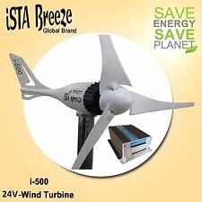 Set 24v/i-500 Generador de Viento + Hybrid carga de ista-breeze, Turbina