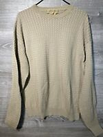 Vintage Tricots ST Raphael Crew Neck Sweater Mens XXL Tan Wool Blend Pullover