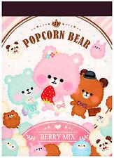 Crux Popcorn Bear Berry Mix Mini Kawaii Memo Pad