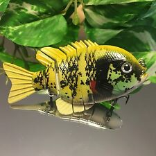 """KDS Custom Slow Sinking Jointed 4"""" Multi Section Swimbait - Chartreuse Gill"""