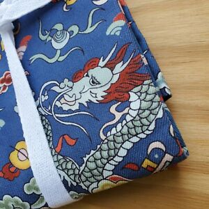 Williams Sonoma Blue Chinese Lunar New Year Dragon Dinner Napkins Set of 4 New