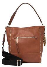 NWT Jessica Simpson Misha Bucket Tote Bag in Saddle (Brown) & Slate