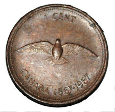 Canada 1967 Centennial 1 Cent Copper One Canadian Penny Dove Coin