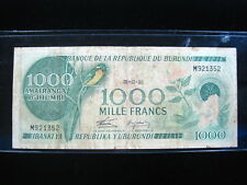 Burundi 1000 Francs 1986 P31 Africa Cows 46# World Banknote Currency Money