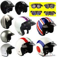 Viper RS-04 Open Face Retro Scooter Motorbike Helmet Motorcycle Crash Helmet