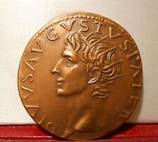 MONNAIE ANTIQUE ROMAINE REPRODUCTION MDP AUGUSTE CESAR ROME EMPEREUR SESTERCE