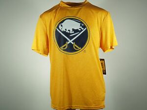 NEW Buffalo Sabres Official NHL Youth Size Athletic 100% Polyester T-shirt