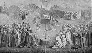 ADORATION of the LAMB by OLD MEN & VIRGINS of the APOCALYPSE - Print from 19th