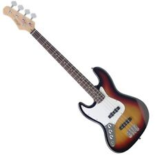 Stagg B300LH-SB 4-String Fusion Electric Bass Guitar - Left Handed - Sunburst
