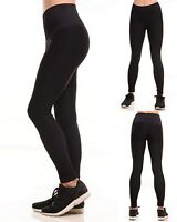 Womens Leggings Seamless Workout Performance Compression Moto Black S M L XL